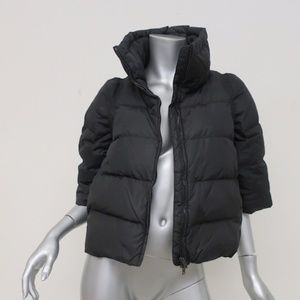 Miu Miu Down Puffer Jacket Black Cropped